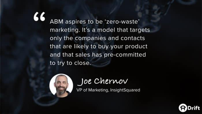 account-based marketing quote from InsightSquared