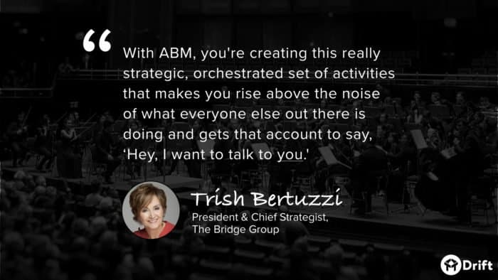 account-based marketing quote from The Bridge Group