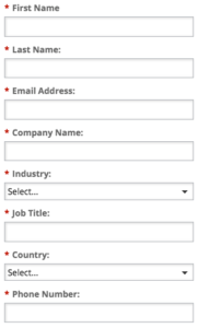 gated content lead gen form
