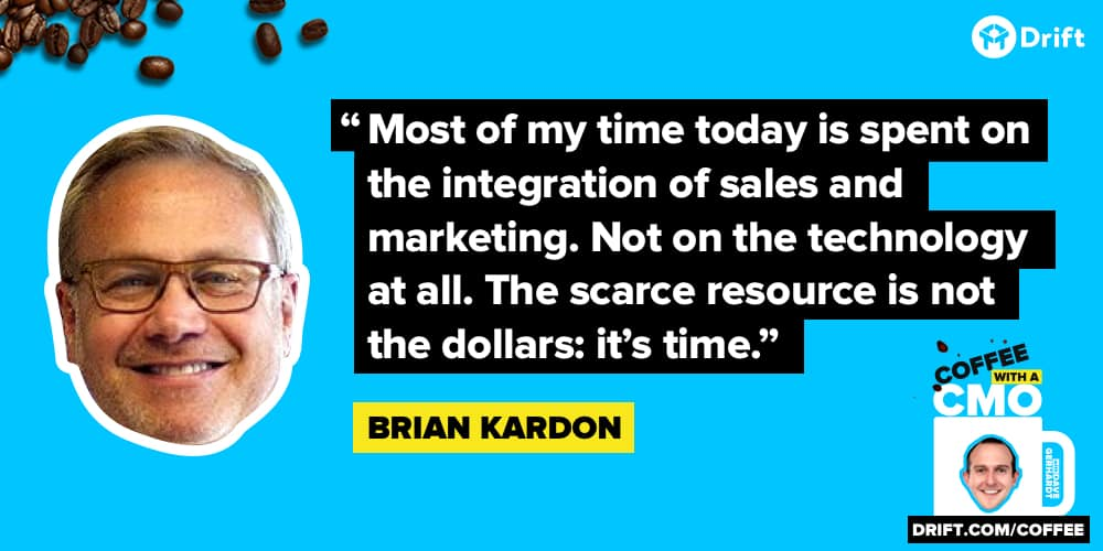 Brian Kardon CMO Interview Quote Technology