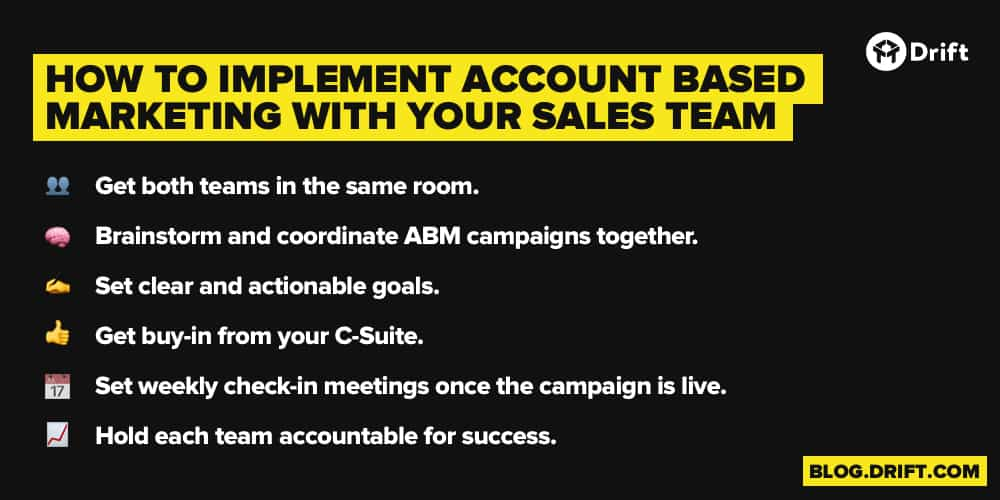 How to Implement ABM With Sales