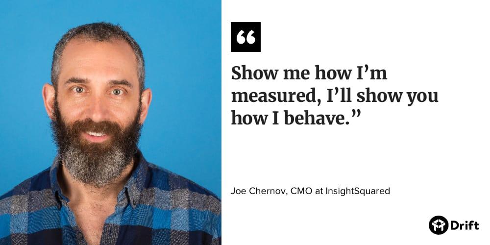 Joe Chernov CMO Interview Quote