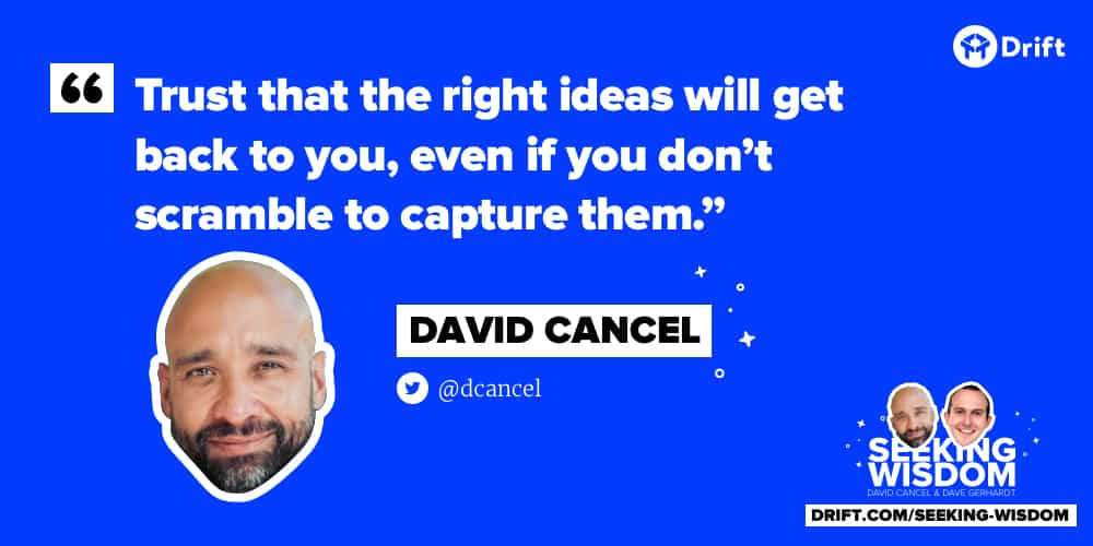 Dave Cancel - Trust the right ideas
