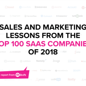 We analyzed the sales and marketing practices of the top 100 SaaS companies. Here's what we found.
