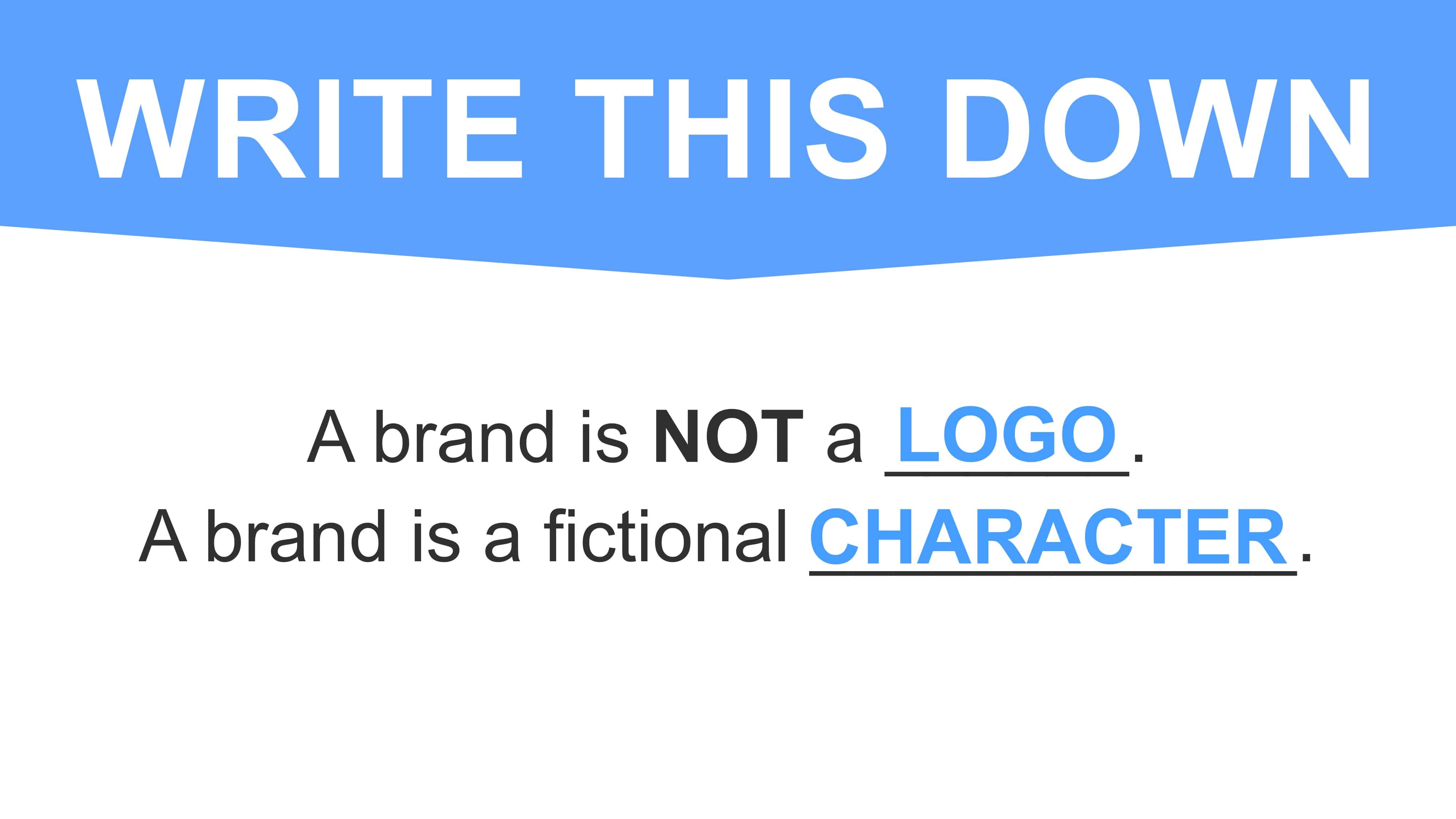 A brand is a character