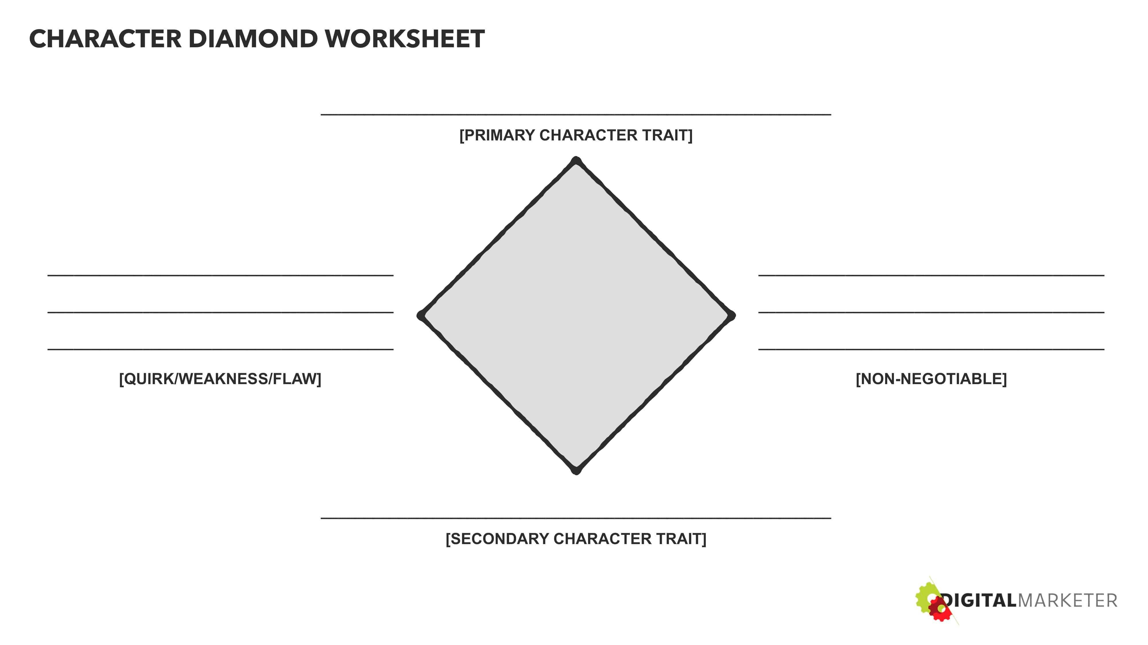 Character Diamond Worksheet