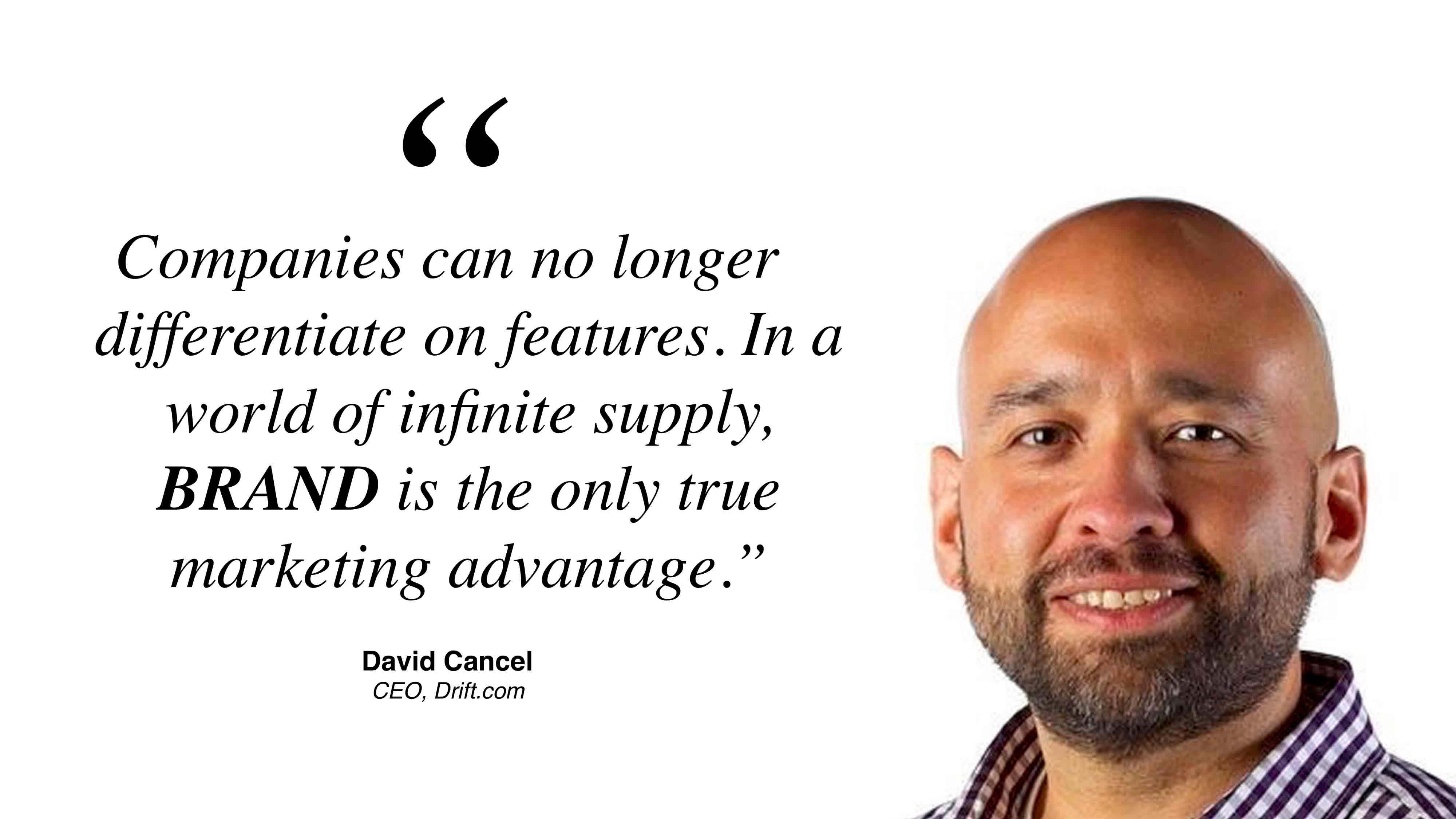 David Cancel on Brand