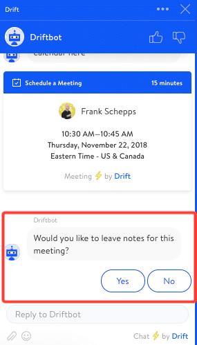 Drift meeting notes