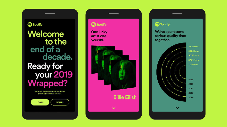 spotify wrapped product illustration