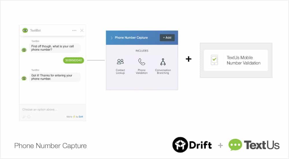 TextUs Drift Set Up Conversational Text Messaging Step 1