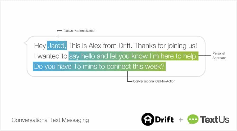 TextUs Drift conversational text messaging