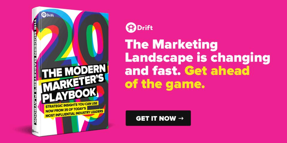Drift Modern Marketer Playbook