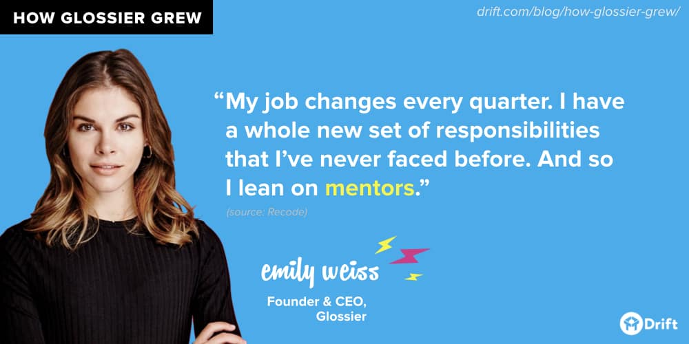 Glossier Emily Weiss Mentors
