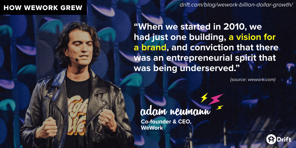 WeWork brand vision