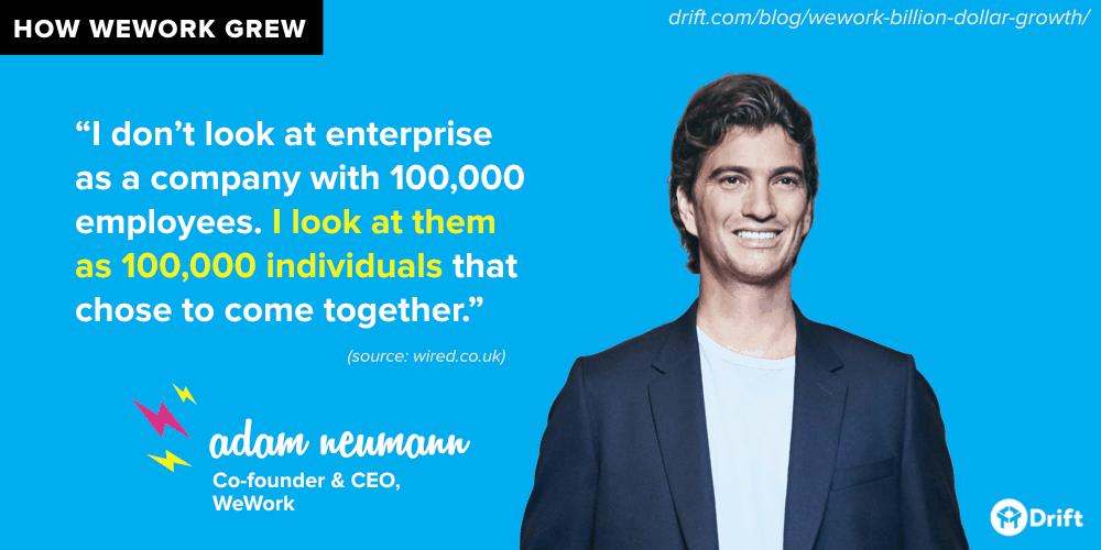 WeWork enterprise approach