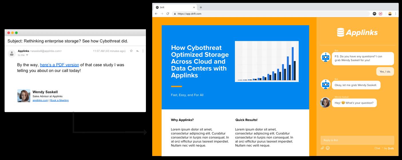 Swap PDF attachments with Drift Conversational Content