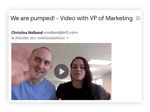 use video to send prospecting emails