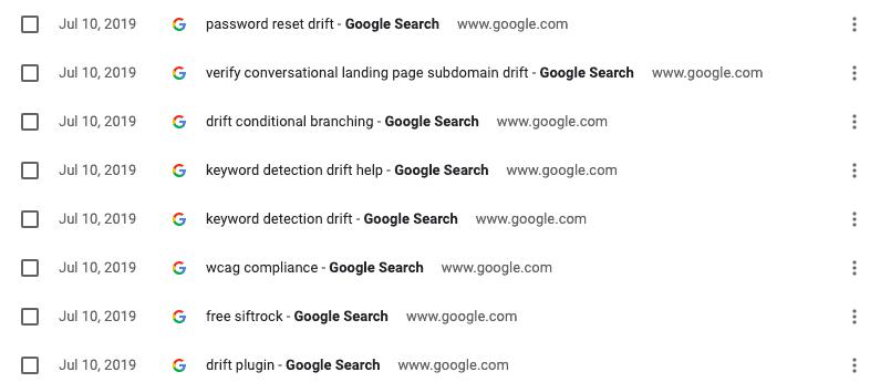 google-search-drift