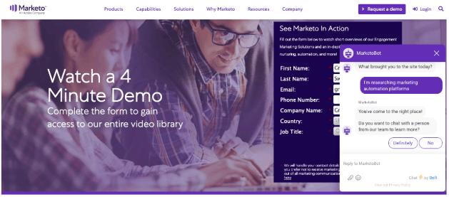 marketo landing page