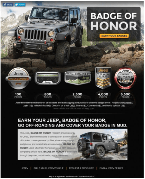 jeep's facebook landing page