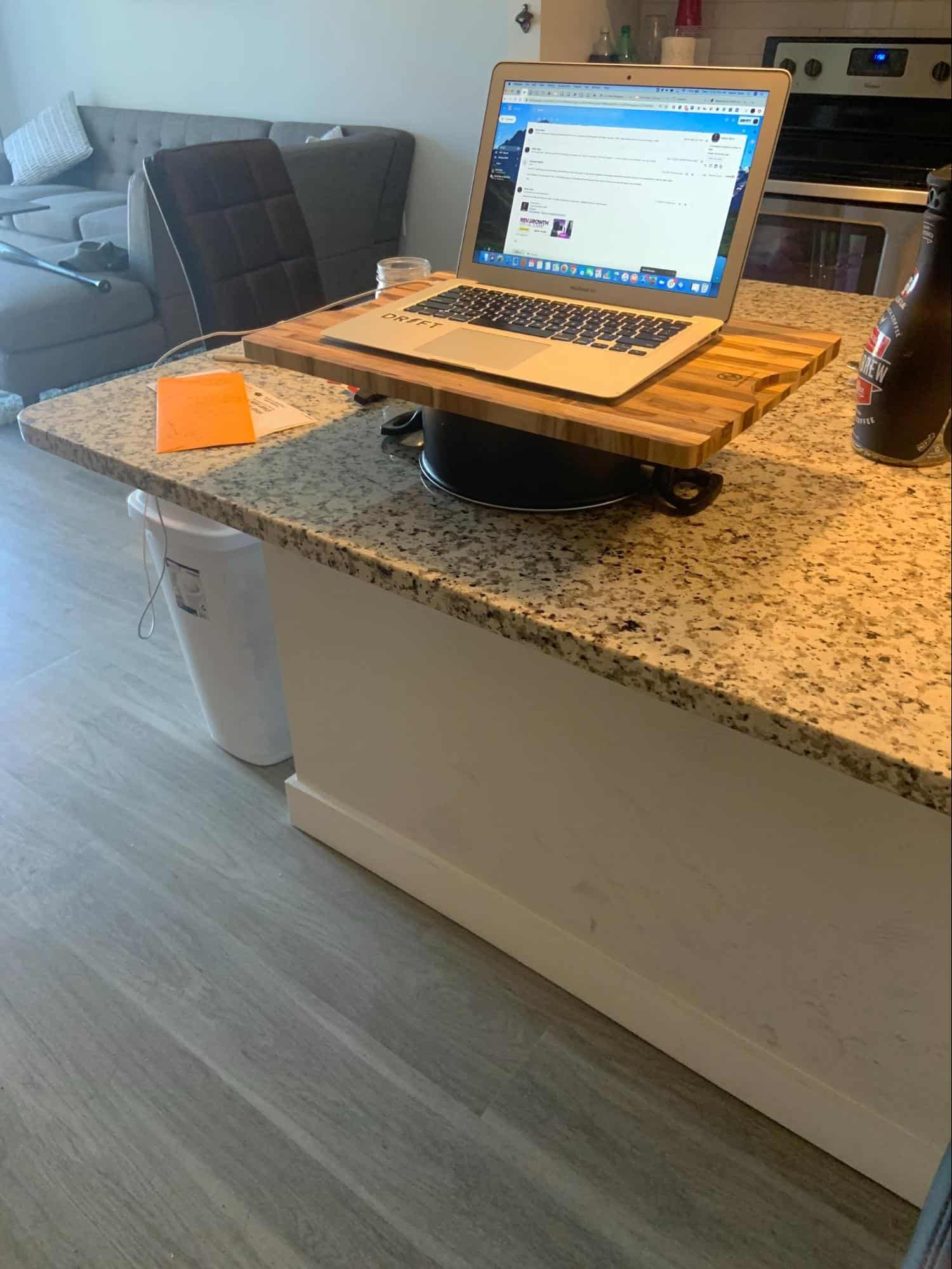 At home standing desk