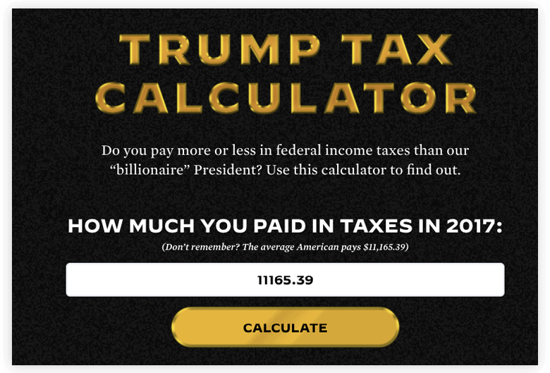 Trump Tax Calculator