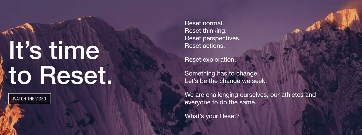 North Face Reset Campaign