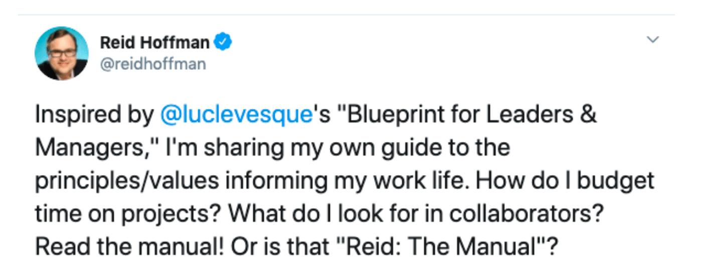 Reid Hoffman Tweet
