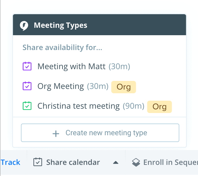 Universal Meetings email extension