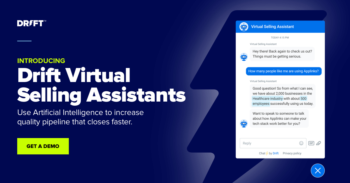 Drift Virtual Selling Assistants