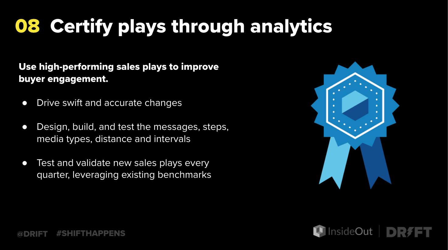 plays to improve sales performance