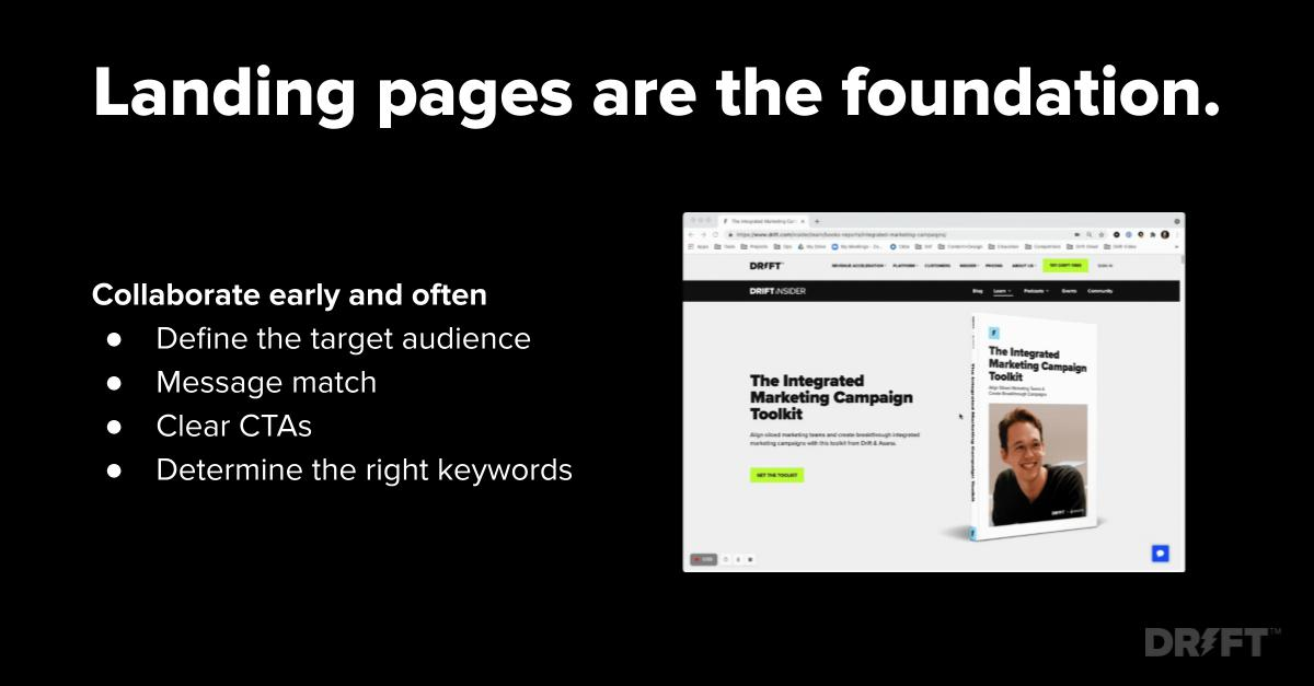 content strategy landing page