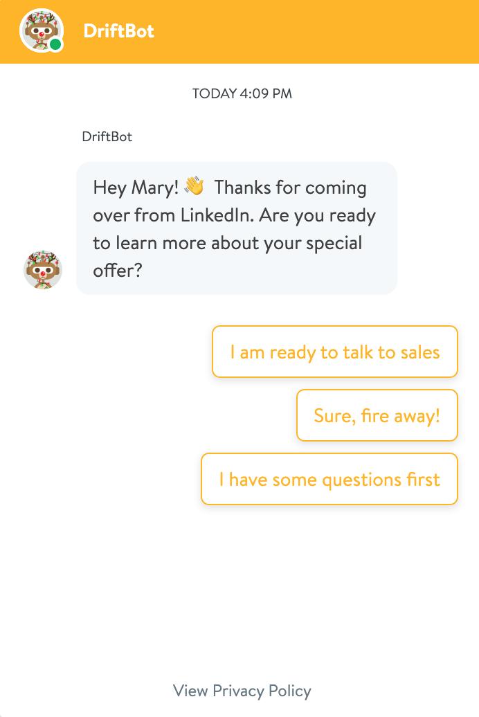 Chatbot - paid ads converter