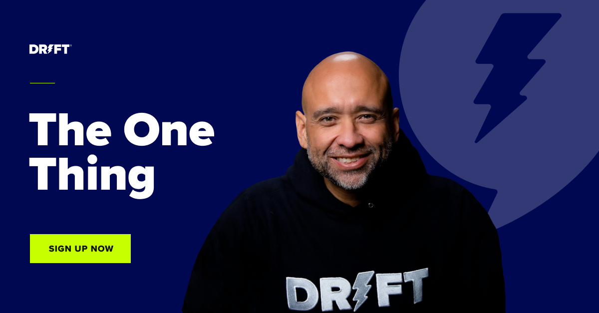 the one thing newsletter CTA blog