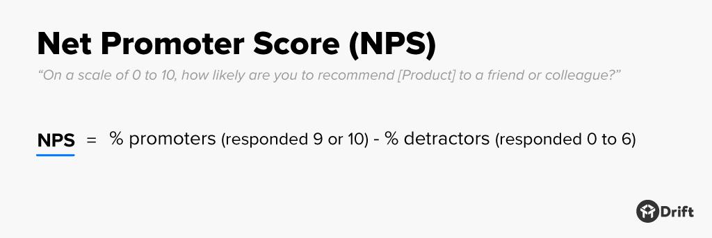 NPS net promotor score formula