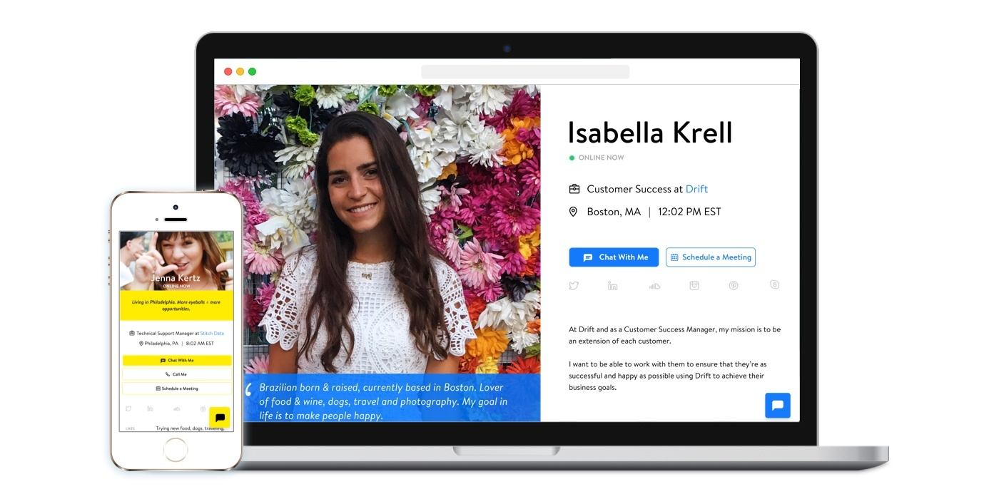 Introducing Drift Profile Pages