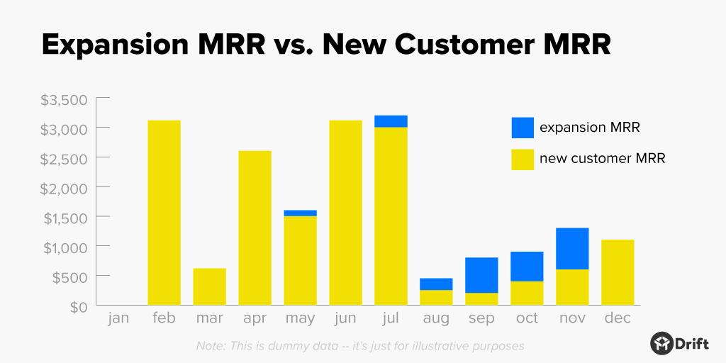 customer success metrics expansion MRR vs new customer MRR