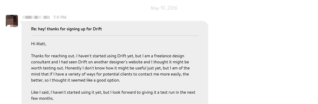 Drift Live Chat Design
